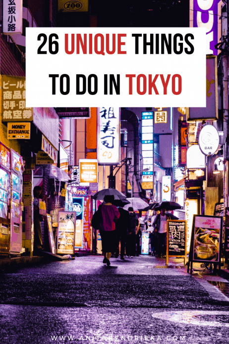 Unique Things to do in Tokyo, Japan