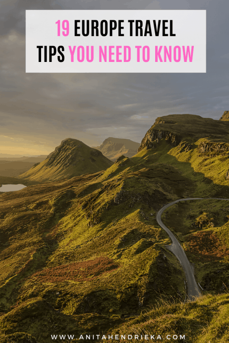 19 Europe Travel Tips You Need to Know