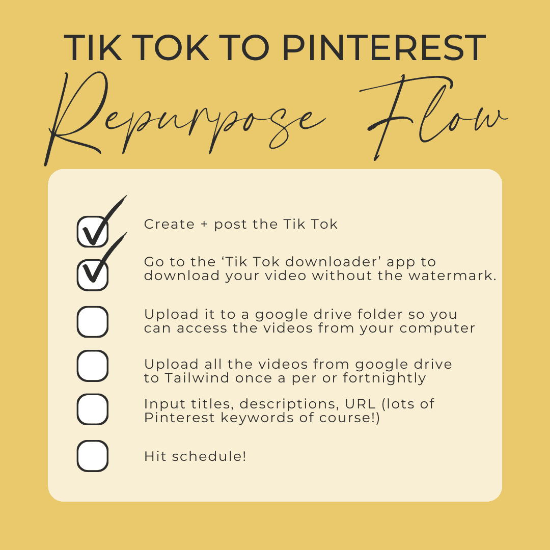 tik tok to pinterest repurpose pinterest videos pins