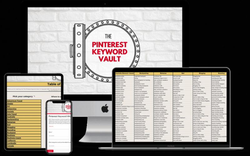 pinterest keyword vault